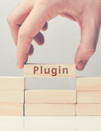 concept-plugin-for-websites-on-wooden-blocks